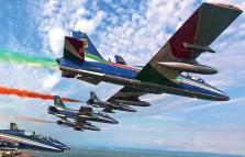 Centenario Aeritalia, Airhow ed Esibizione frecce tricolori