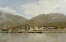 Filippo Carcano. Allegria, Pescarenico nel lago di Lecco